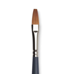 "Winsor & Newton Professional Watercolor Synthetic Brush - One Stroke, Size 1/4"", Short Handle (close-up)"