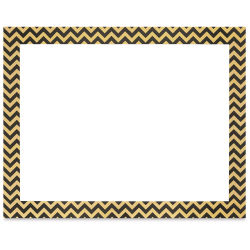 Pacon Ucreate Poster Board - Black and Gold Chevron, 22'' x 28''