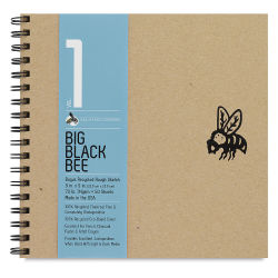 Big Black Bee Bogus Recycled Sketchbook - 9'' x 9'', Rough, wirebound, 50 Sheets