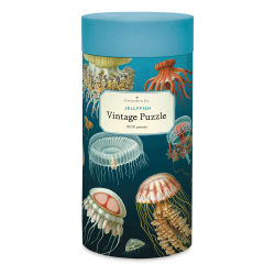Cavallini Vintage Jellyfish 1,000 Piece Puzzle (packaging)
