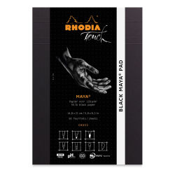 "Rhodia Touch Maya Pads-Black, Cross 5"" x 8"", Cover"