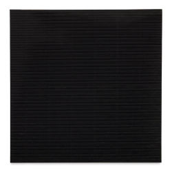 "Black Ink Corrugated E-Flute Decorative Papers - Black, 12"" x 12"""