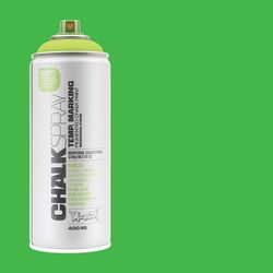 Montana Chalk Spray Paint - 400 ml, Green (Spray can with swatch)