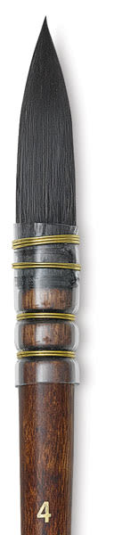 Princeton Neptune Synthetic Squirrel Brush - Quill, Short Handle, Size 4