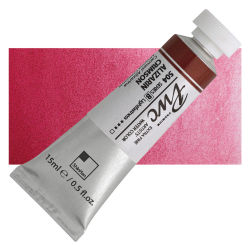 PWC Extra Fine Professional Watercolor - Alizarin Crimson, 15 ml, Swatch with Tube
