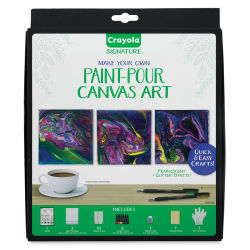 Crayola Signature Acrylic Make Your Own Paint-Pour Canvas Art Set