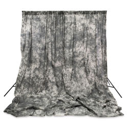 Savage Crushed Muslin Backdrop - Gray Skies, 10 ft x 24 ft
