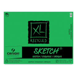 Canson XL Recycled Sketch Pad - 18'' x 24'', Fold-over, 100 Sheets