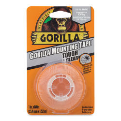 Gorilla Mounting Tape - Tough and Clear, 1'' x 60''