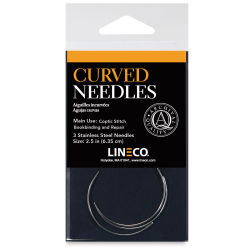 Lineco Curved Bookbinding Needles - Pkg of 3