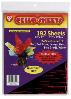 Cello Sheets, Pkg of 192