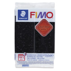 Staedtler Fimo Leather Effect Clay - Black, 2 oz