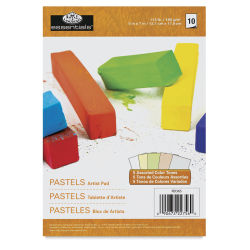 Royal & Langnickel Pastel Pad - 5'' x 7'', Assorted Colors, 10 Sheets