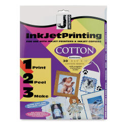 Jacquard Inkjet Fabric Kit - 8-1/2'' x 11'', Cotton, Pkg of 30