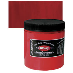 Jacquard Neopaque Acrylics - Fire Red, 8 oz jar