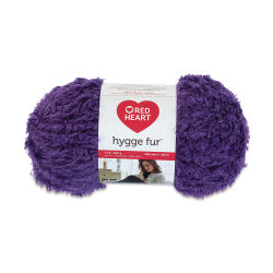 Red Heart Yarn Hygge Fur - Royal Purple