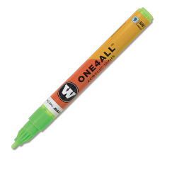 Molotow ONE4ALL Acrylic Marker - 2 mm Tip, Neon Green Fluorescent, Bullet Tip