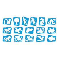 Roylco Child's First Stencils - Set of 16