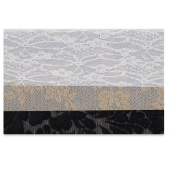 Fabric Expressions Iron-On Fabric Sheets - Lace, Pkg of 3