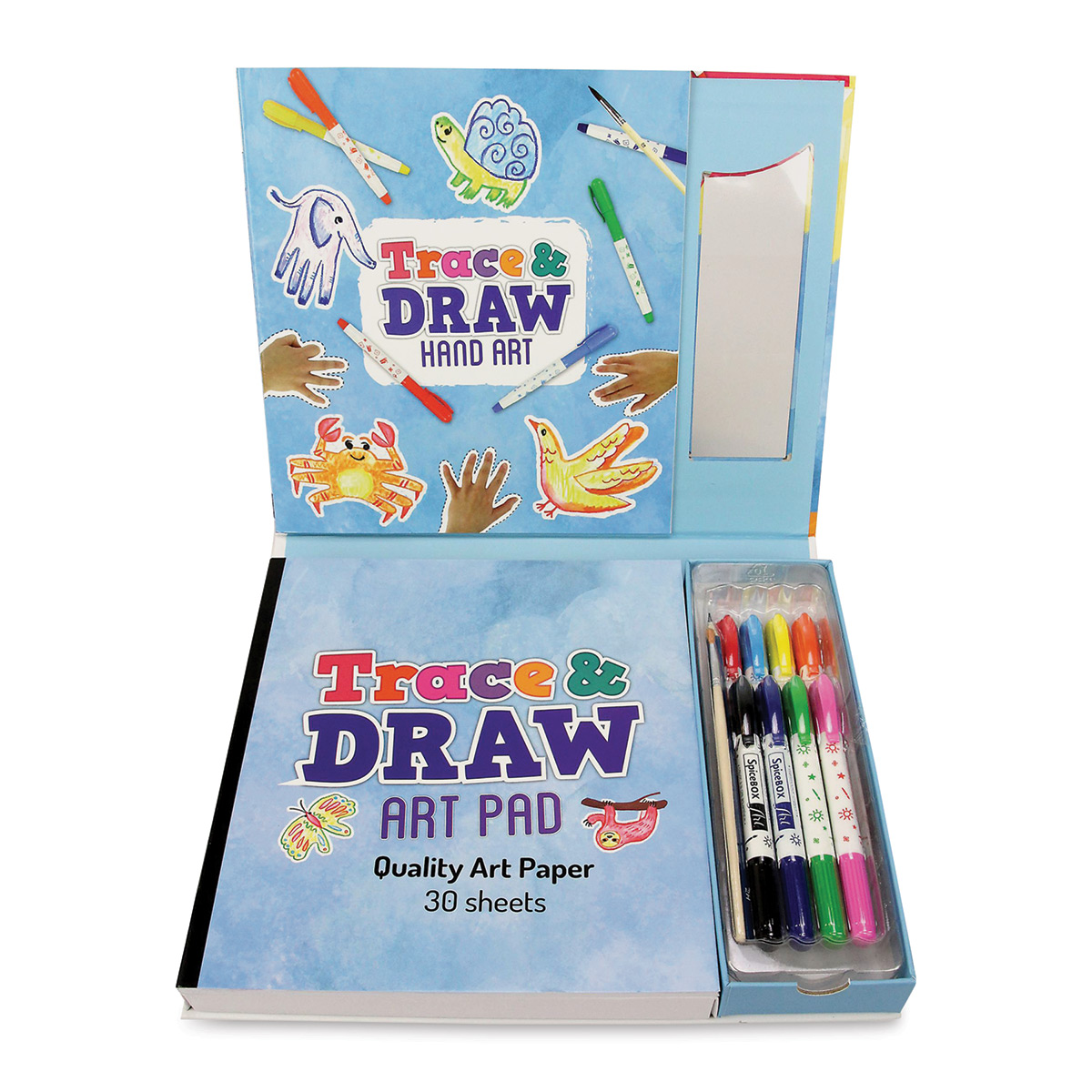 SpiceBox Imagine It! Trace and Draw Hand Art Kit