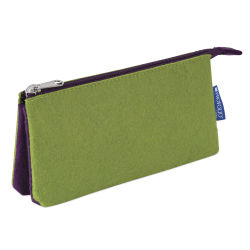 Itoya Profolio Midtown Pouch - Green/Purple, 4'' x 7''
