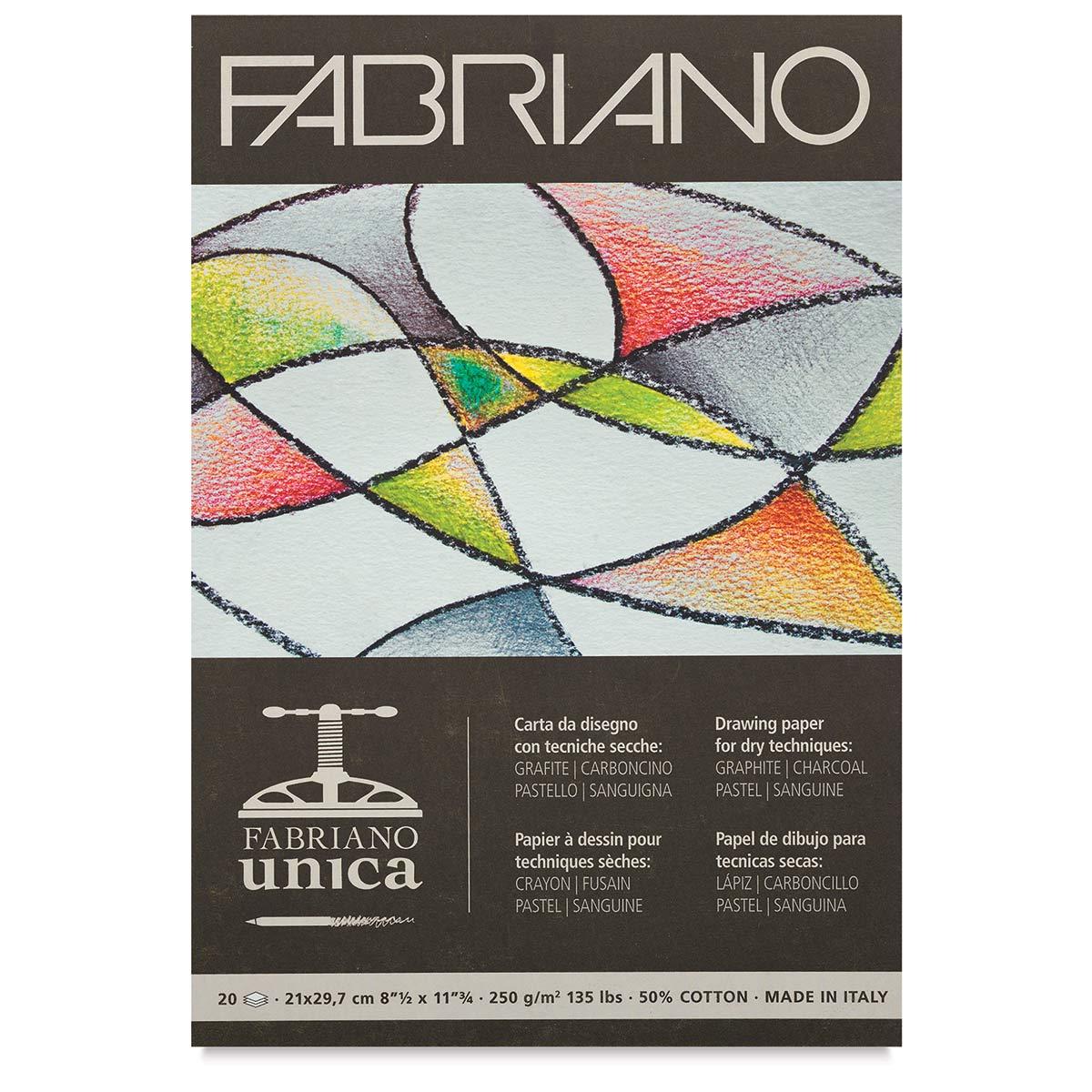 Fabriano Unica Printmaking Paper Pad - White, 8-1/4 x 11-3/4, 20 Sheets