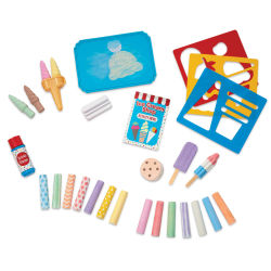Melissa & Doug Ice Cream Shop Chalk Play Set (Set contents)