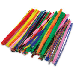 "PA Essentials Chenille Stem Super Pack - 12"", Assorted Colors, Package of 250, Side View"
