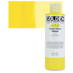 Golden Fluid Acrylics - Hansa Yellow Opaque, 8 oz bottle
