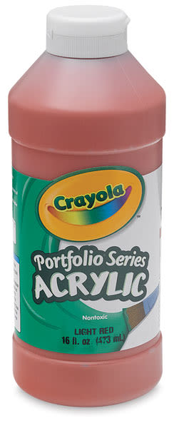 Crayola Portfolio Series Acrylics - Light Red, 16 oz bottle