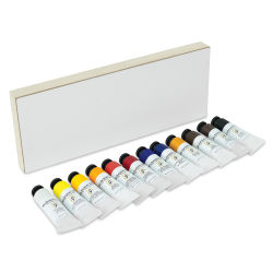 Shiva Signature Artist Oil Color - Set of 12 with Cradled Panel