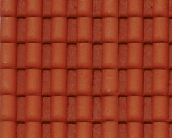 Plastruct Patterned Sheets, Spanish Tile, 1:24 Scale