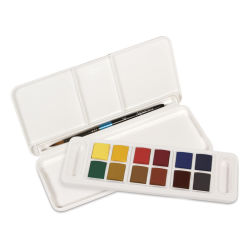 Daler-Rowney Aquafine Watercolors and Sets - Travel Set, Set of 12, Assorted Colors, Half Pan