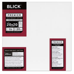Blick Premier Heavyweight Stretched Cotton Canvas - 20'' x 20'', 1-3/8'' Profile