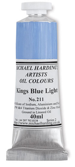 Michael Harding Artists Oil Color - Kings Blue Light, 40 ml tube