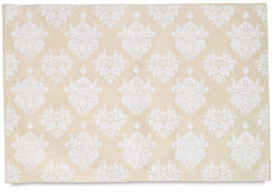 Lama Li Decorative Paper - 22'' x 30'', White, Victoria Venetian Mask, Single Sheet