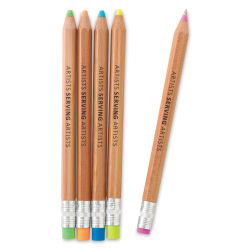 Blick Artists Serving Artists Pens - Wood Barrel, Sold individually, color selected at random