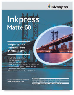 Inkpress Matte 60, Pkg of 50
