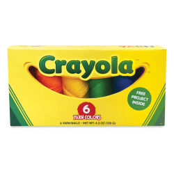 Lion Brand Crayola Yarn Box - Set of 6, Assorted Colors