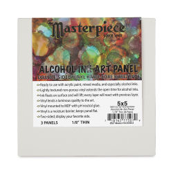 Masterpiece Alcohol Ink Art Panels - 5'' x 5'', Pkg of 3