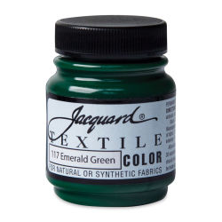Jacquard Textile Color - Emerald Green, 2.25 oz jar