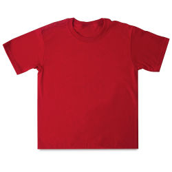 First Quality 50/50 T-Shirts, Youth Sizes - Red Medium (10-12)