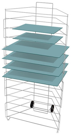 Portable Rack with 13 Shelves