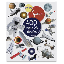 Eyelike Space Reusable Stickers, Book Cover