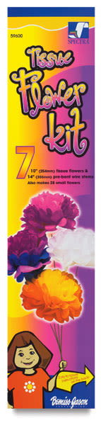 Tissue Flower Kit, 7 Flowers