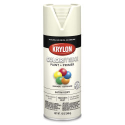 Krylon Colormaxx Spray Paint - Ivory, Satin, 12 oz