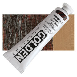 Golden Heavy Body Artist Acrylics - Transparent Brown Iron Oxide, 2 oz Tube