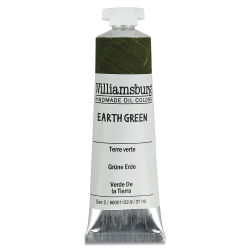 Williamsburg Handmade Oil Paint - Earth Green, 37 ml tube