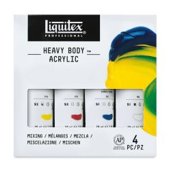 Liquitex Heavy Body Artist Acrylics - Primary Set, Set of 4 colors, 2 oz tubes