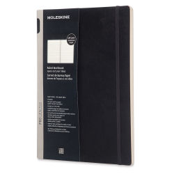 Moleskine Pro Collection - Pro Workbook, Softcover, Black, Lined, 11-3/4'' x 8-1/4''